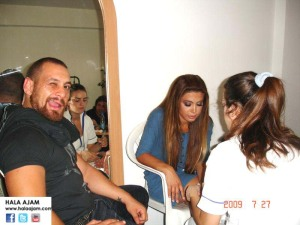 Yehya during Nawal's shoot