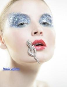 Artistic makeup by the Lebanese makeup artist Hala Ajam