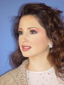 Marie Jose Hneine: make up by th Lebanese makeup artist Hala Ajam