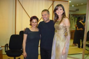 Hala Ajam with Elie Saab and Marie jose Hneine