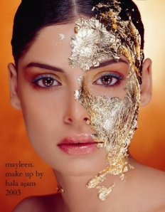 Artistic makeup by the Lebanese makeup artist Hala Ajam