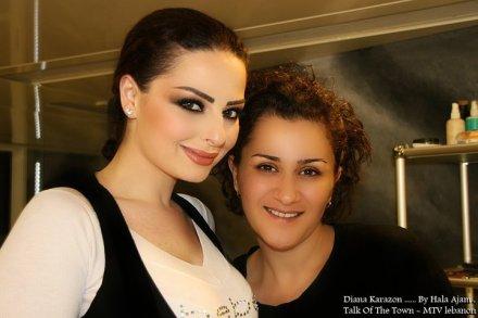 Diana Karazon with the Lebanese makeup artist Hala Ajam!
