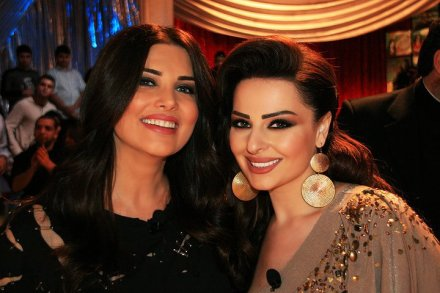 Mona Abou Hamza and Diana Karazon (Makeup by the Lebanese Makeup artist Hala Ajam)