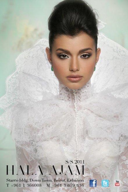 ماكياج عروس هالة عجم 2011