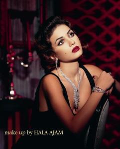 Elizabeth Taylor's makeup by Hala Ajam