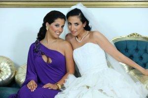 Bridal makeup by the Lebanese makeup artist Hala Ajam
