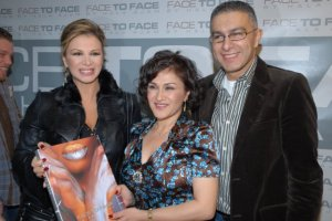 Hala Ajam's signing her book Face to Face