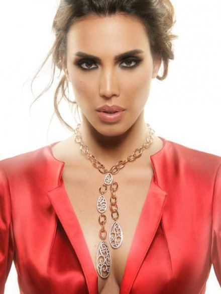 Makeup by the Lebanese makeup artist Hala Ajam