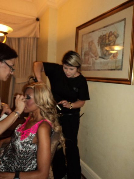 Cathy Guetta makeup by Hala Ajam