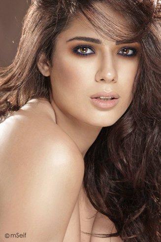 Nadine Njeim Miss Lebanon 2007 makeup by Hala Ajam