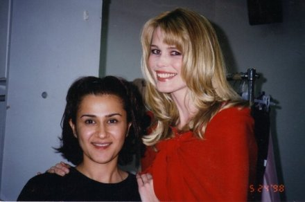 Hala Ajam and Claudia Schiffer