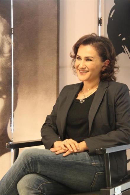 The Lebanese makeup artist Hala Ajam