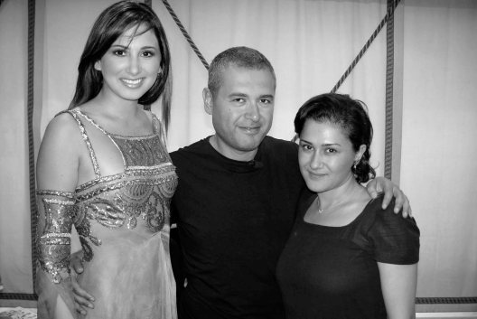 Hala Ajam and Elie Saab at Dubai Fashion Week.