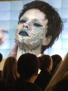3rd Look, drawing all over the face