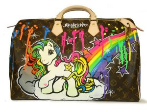LV with cartoon design